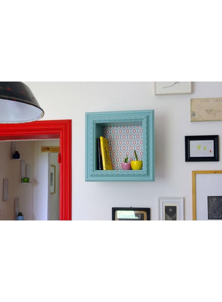 Buffettina contenitore a parete in legno colorato for Arredamento mensole a parete