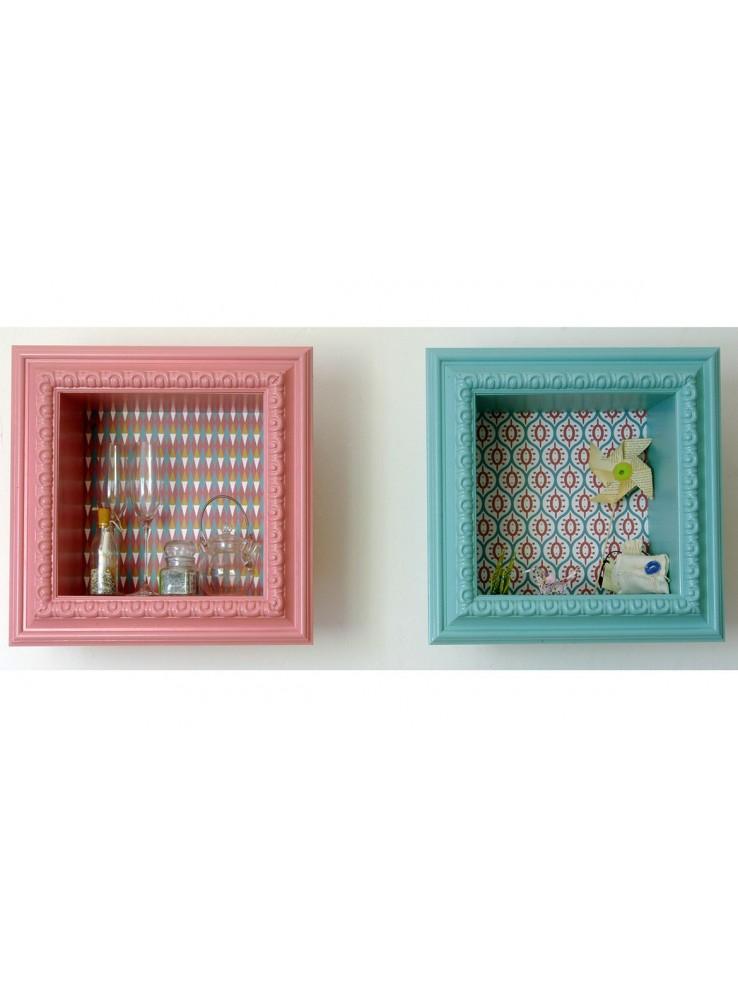 Buffettina contenitore a parete in legno colorato - Parete in legno ...
