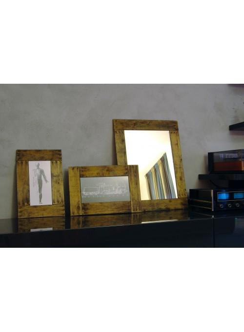 Cornice piatta in legno di riciclo per fotografie - Ubriachina