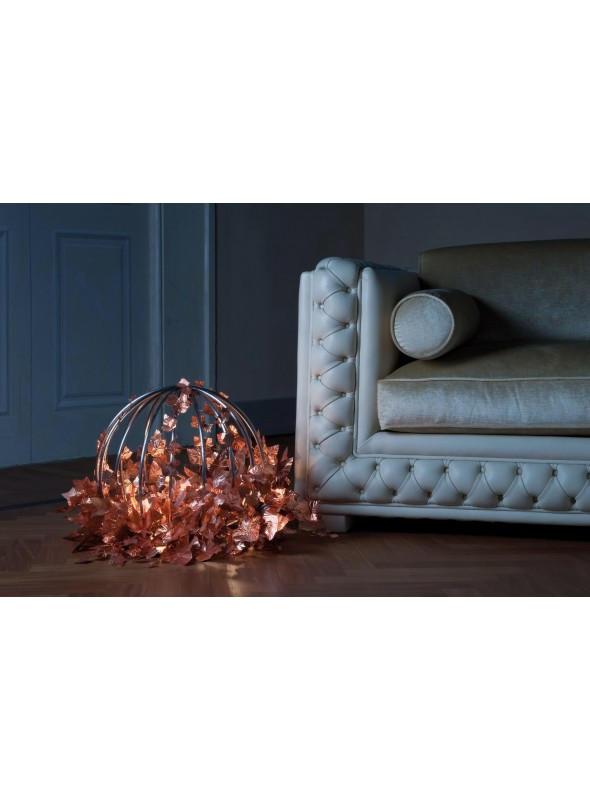 Design table lamp in iron and copper - Sphaera