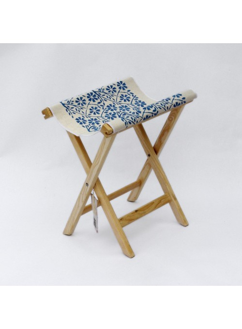 Handmade stool in wood and canvas - Sabbia Ceschi