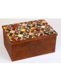 Storage box manufactured in weathering steel - Pavè
