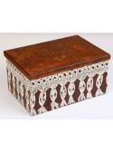 Hand-painted storage box in corten - Trina