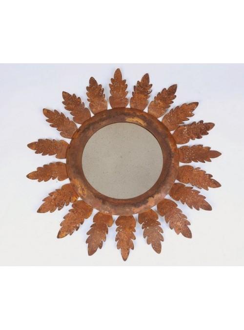 Specchio anticato in corten - Acanto
