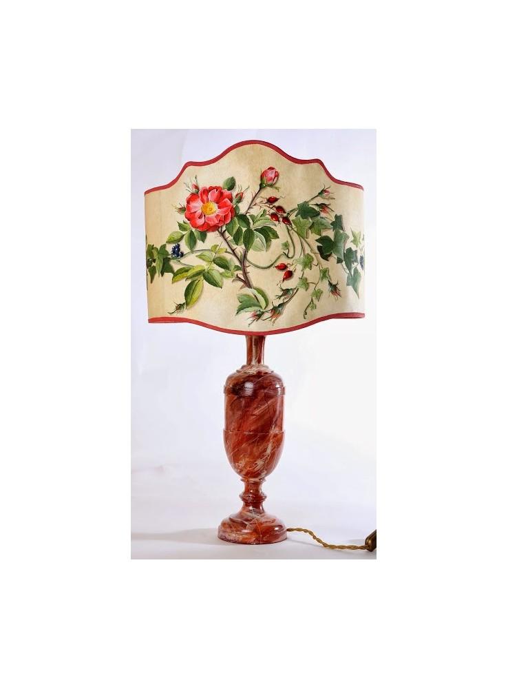 Lampada da tavolo in legno tornito - Damascena