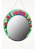 Specchio in cristallo con decorazione floreale - Melisenda