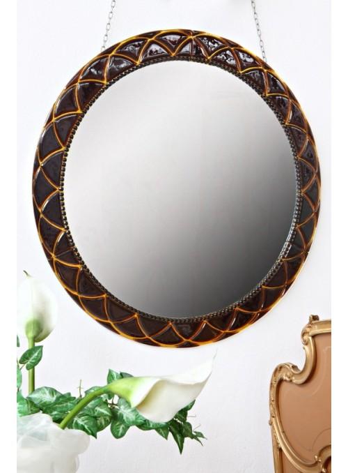 Specchio in cristallo con decorazione romanica - Drusilla