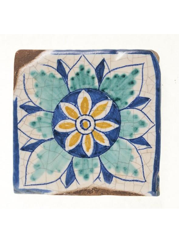 Set of earthenware polished tiles - Capraia (A)