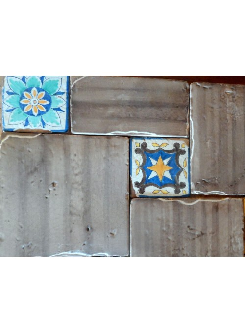 Set di mattonelle in cotto rustico smaltato - Capraia (A)