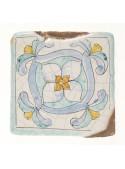 Set of earthenware polished tiles - Capraia (B)
