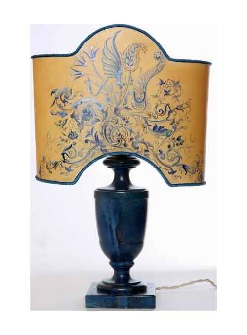 Lampada da tavolo con decorazione floreale - Lapislazuli