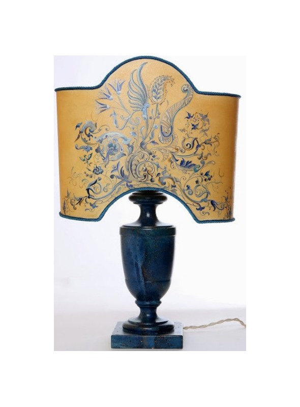 Table lamp with floral decoration - Lapislazuli