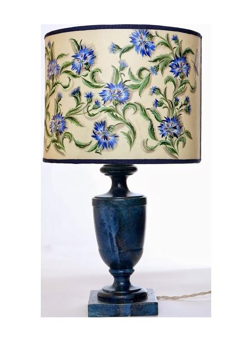 Lampada da tavolo dipinta a mano - Fiordaliso