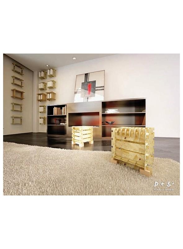 Ecodesign assembled seating and box