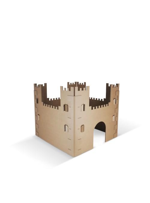 Bel Castello - castello di cartone pieghevole, gioco di ecodesign per bambini