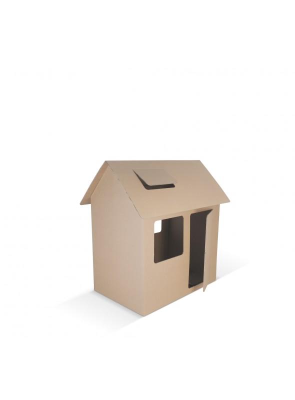 Casetta - casa di cartone pieghevole, gioco di ecodesign per bambini