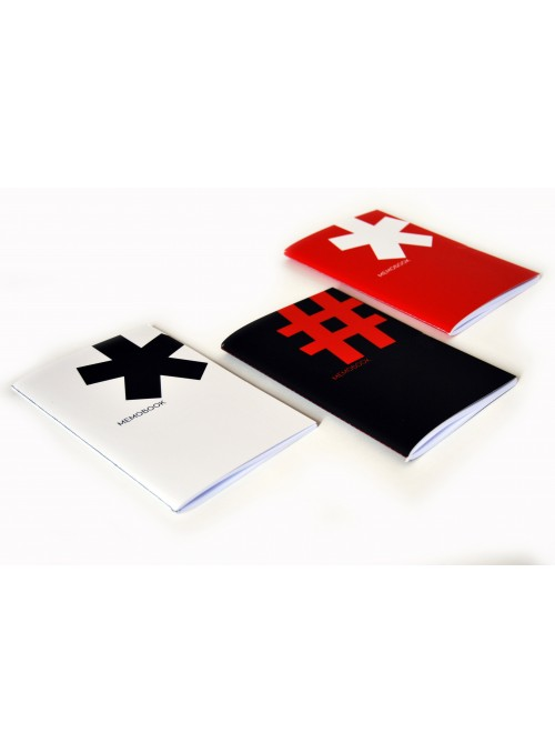 Coloured notebooks with typographical symbols (medium size)