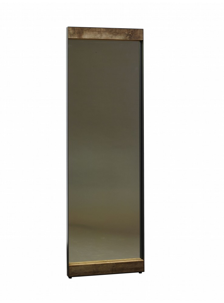 Specchio artigianale oak in ferro e legno di rovere - Specchio in legno ...
