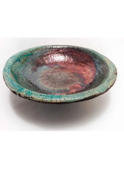 Piatto giapponese in ceramica Raku fatto a mano