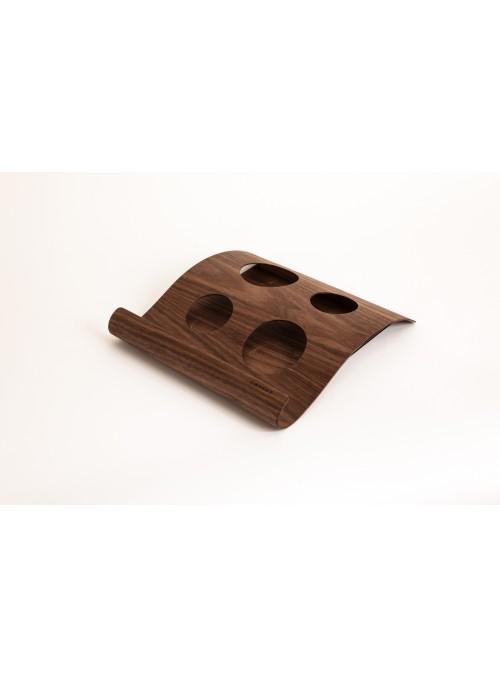 Vassoio in legno pregiato con tazze in ceramica ideale per la colazione a letto