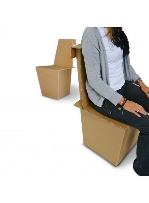 Ecodesign light chair in cardboard - Ginger