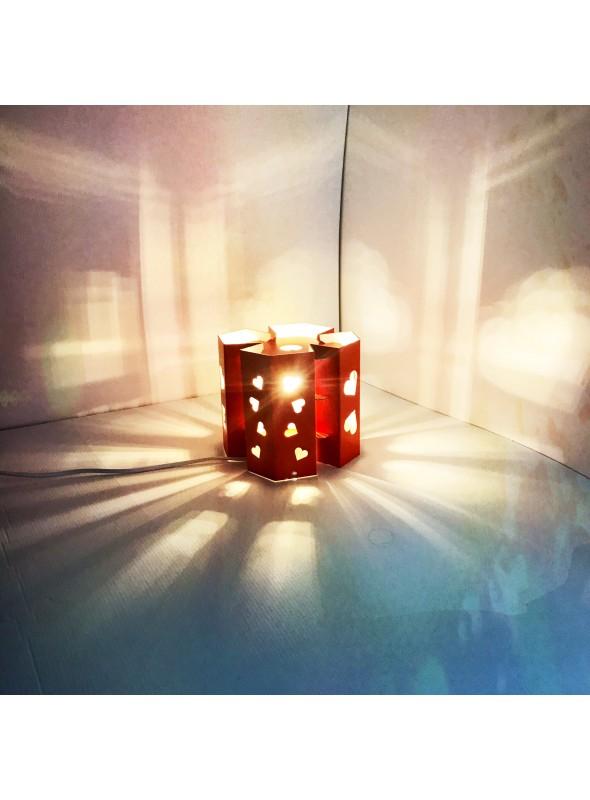 Lampada di ecodesign in cartone - Manhattan San Valentino