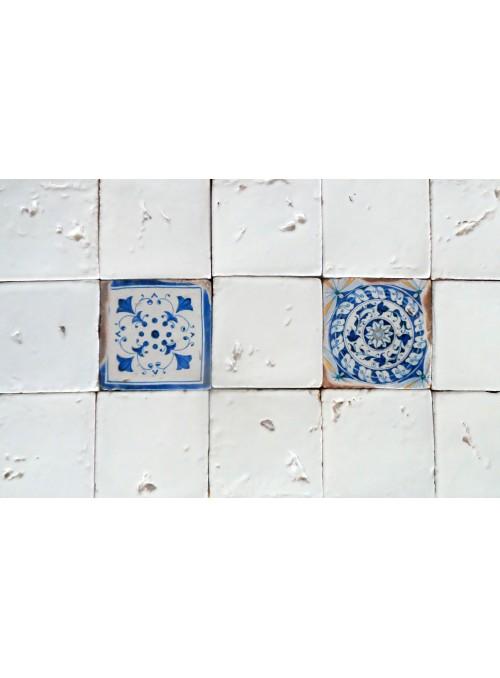Set di mattonelle in cotto rustico smaltato - Montelupo (A)