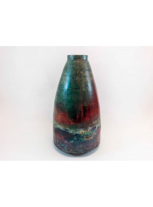 L Angolo Della Ceramica.Vaso Giapponese In Ceramica Raku