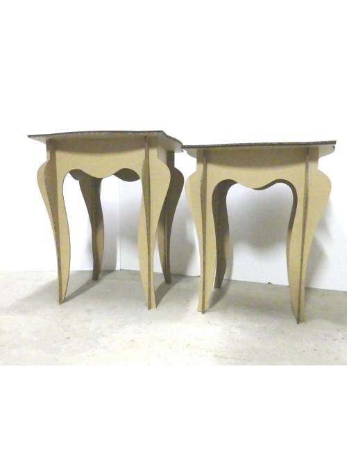 Tavolino in cartone di ecodesign Shabby Style