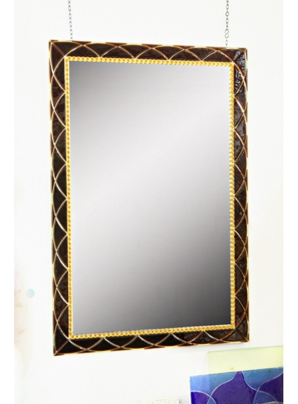 Handmade crystal mirror - Doralice