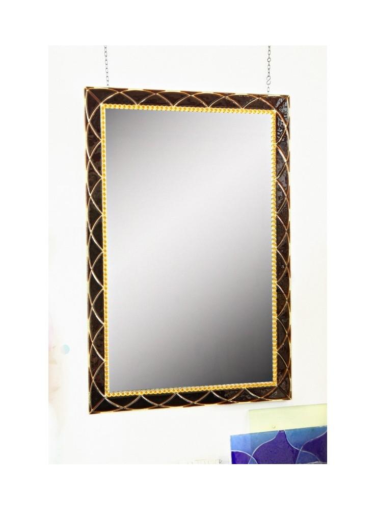 Specchio in cristallo lavorato a mano doralice - Cornici a specchio ...