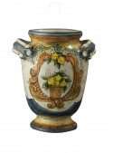 Little classic hand-decorated ceramic vase