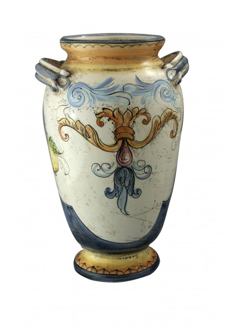 Large classic hand-decorated ceramic vase