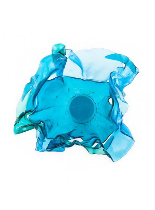 Elegant centrepiece light blue glass vase - Onda