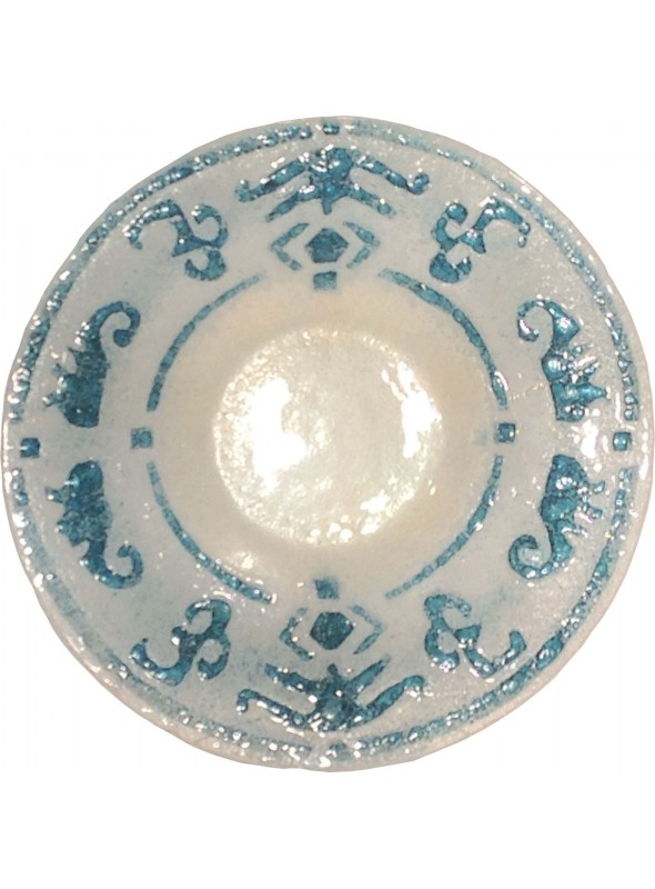 Plate inspired to the traditional Sardinian artistic decorations