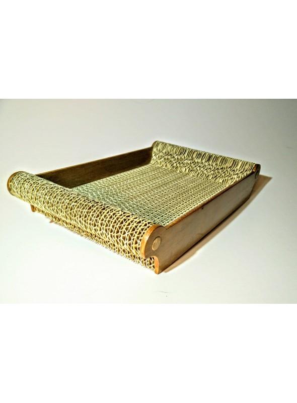 Ecodesign pocket emptier tray in cardboard
