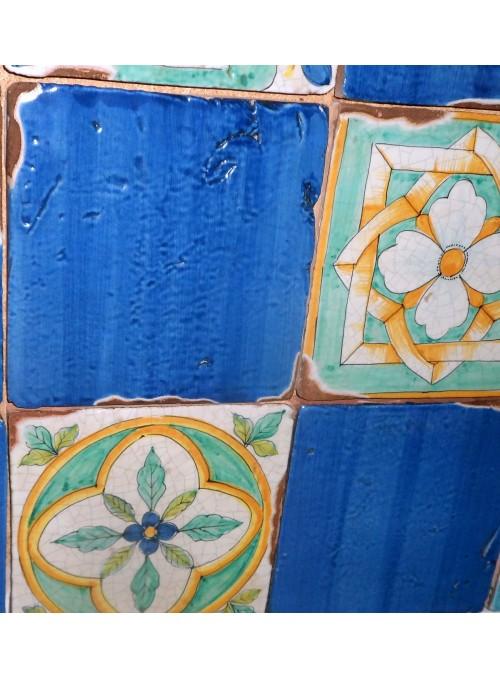 Set di mattonelle in cotto rustico smaltato - Elba (A)