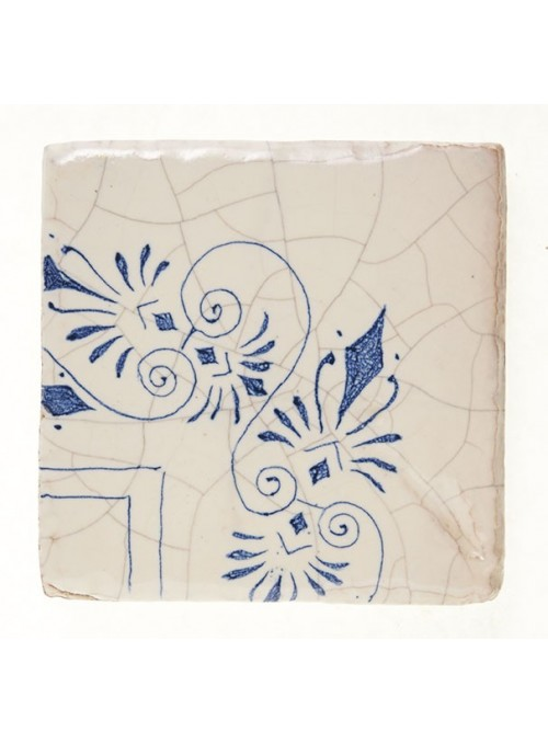 Set of earthenware polished tiles - Corner (B)