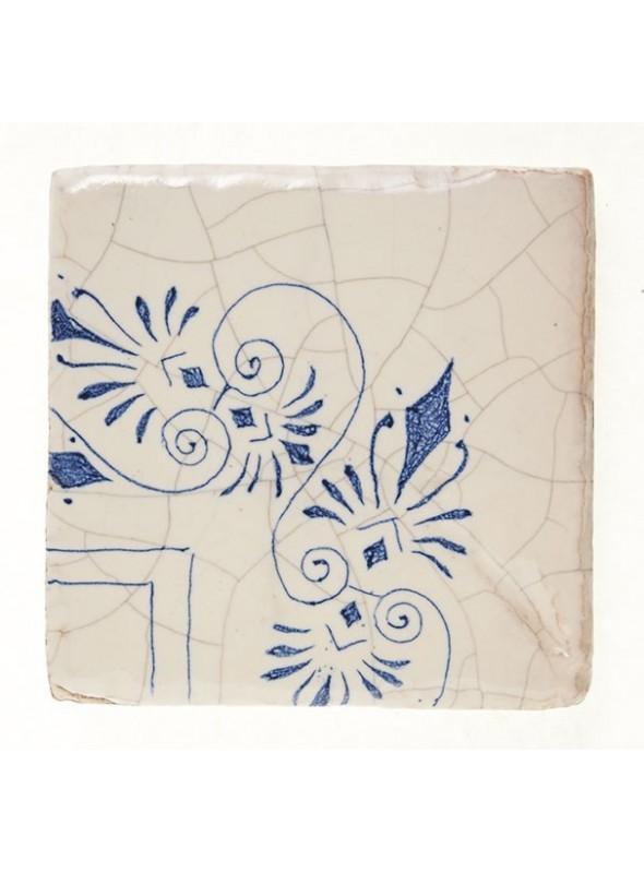 Set of earthenware polished tiles - Corner (B)