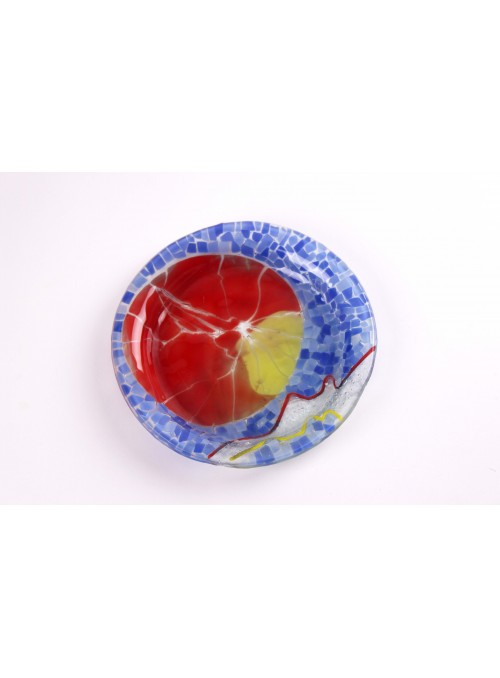 Piatto artigianale di vetro a mosaico - Orbita