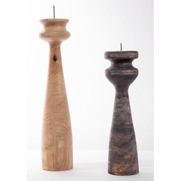 Candeliere in legno realizzato a mano