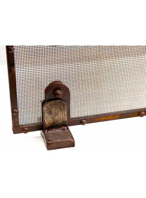 Parascintille da caminetto in ferro battuto lavorato a mano