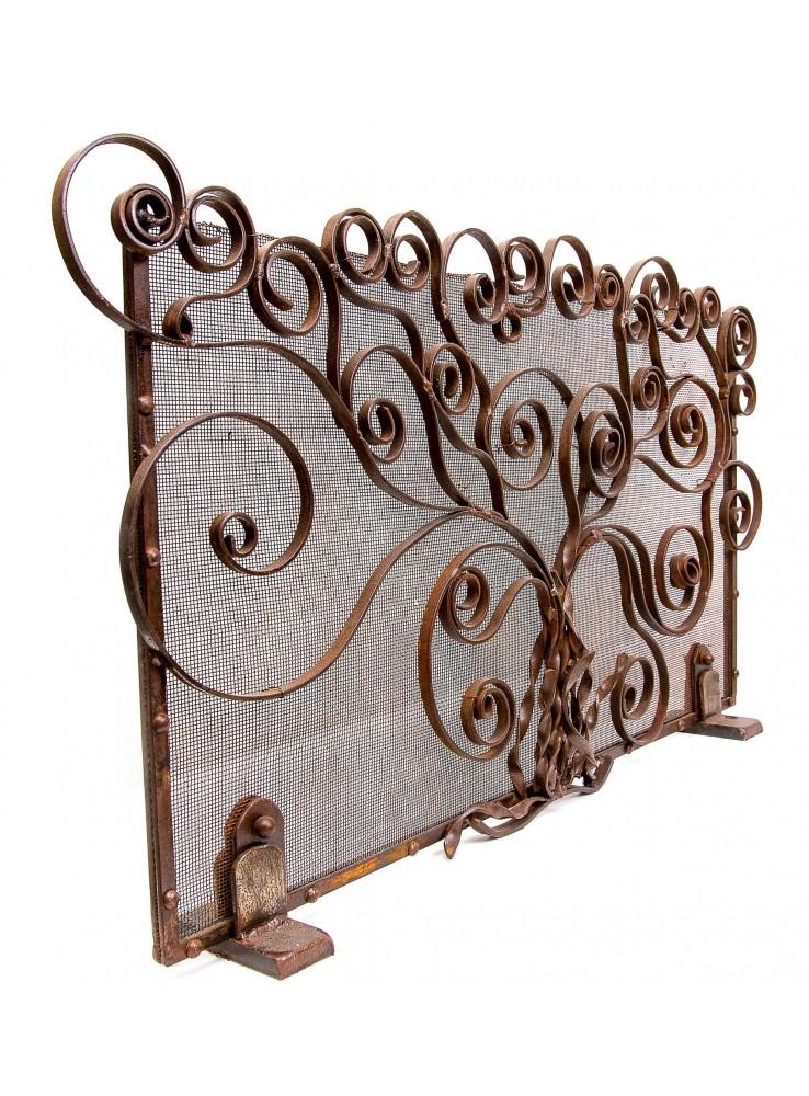 Parascintille da caminetto in ferro battuto lavorato a mano for Decorazioni in ferro battuto