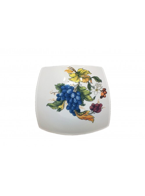 Soup plate in ceramic with two different decorations