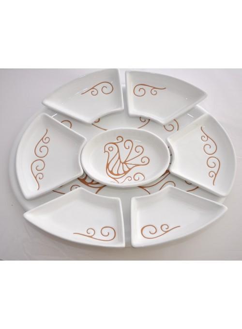 Antipastiera ovale in ceramica per un pranzo elegante