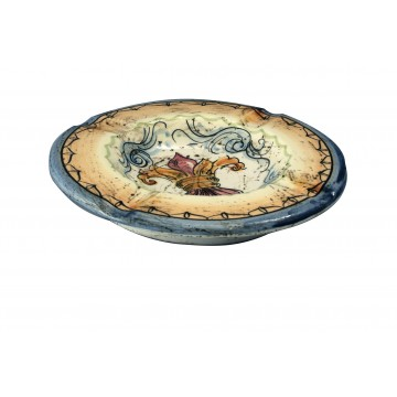Piattino posacenere in ceramica di stile classico