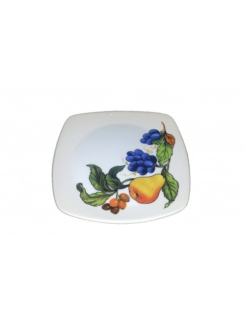 Dessert plate in ceramic with two different decorations