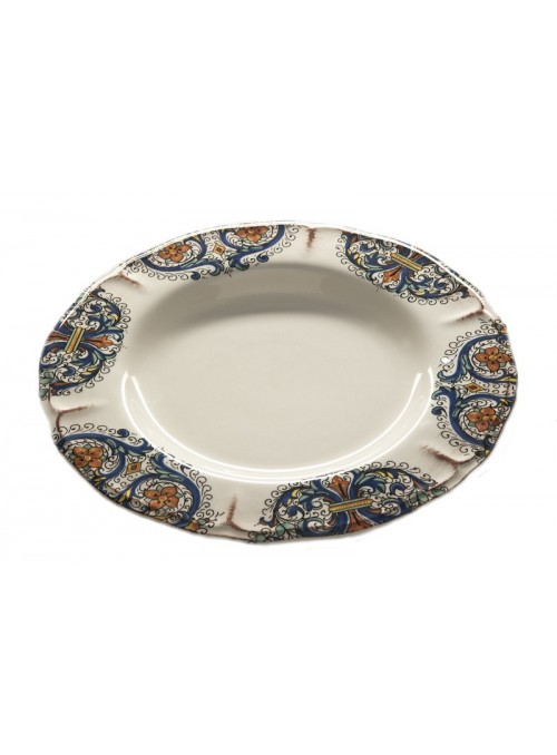 Classic dinner plate in ceramic with two different decorations