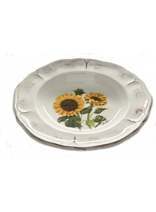 Classic soup plate in ceramic with two different decorations