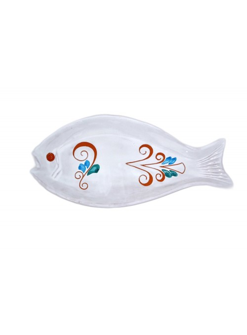 Oval ceramic tray in the shape of a fish